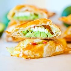 Avocado, Cream Cheese, and Salsa-Stuffed Puff Pastries.