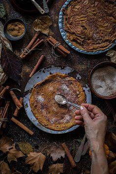 Crepes de calabaza y canela. Mi desayuno-merienda favorito en época de frío Make My Day, Crepes, Paella, Cooking, Ethnic Recipes, Breakfast, Kisses And Hugs, Vegan Desserts