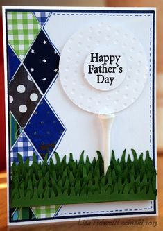 Card: Happy Father's Day - golf