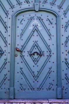 'Blue door' by Miroslava Andric on artflakes.com