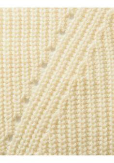 片畦(かたあぜ)編みクルーネックプルオーバー