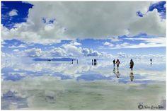 Reflections in the Bolvia salt desert after rain! via Gabriele Corno