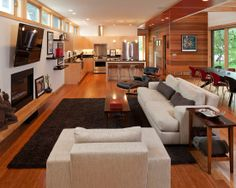 Floors-red is too 19902 urban green - modern - living room - minneapolis - SALA Architects House Design, Room Design, Modern House, Living Room Modern, House Interior, Furniture Placement Living Room, Interior Design, Living Room Design Modern, Home And Living