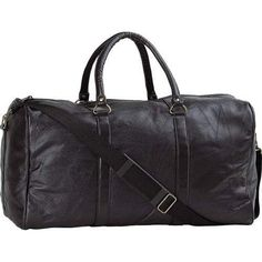 21IN LEATHER DUFFLE BAG