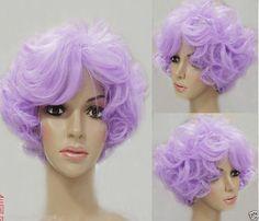 Type68 Cosplay Volet Purple Short Curly  Wig