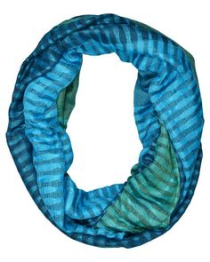 #Scarves #Fairtrade #TradesofHope  This buttery soft Blue Agave Infinity Scarf drapes beautifully and the colors are amazing!