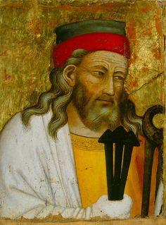 Niccolò di Tommaso (?) Documenté à Florence et à Pistoia de 1346 environ à 1376 Joseph d'Arimathie Tempera sur bois, peuplier H. 36,5 cm L. 28,2 cm. Legs Octave Linet, 1963 Inv. 1963-2-6 Musée des Beaux-Arts, Tours