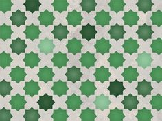 Moroccan Eight Pointed Star stencil, would look incredible layering flat /gloss paints of the same shade.