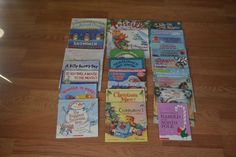 Christmas Picture book lot of 25 Holiday Santa, Children's Winter Snow Golden