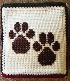 Crochet Baby Blanket, Baby Blanket, Dog Paw Baby Blanket, P Modern Crochet Blanket, Baby Afghan Crochet, Manta Crochet, Bringing Baby Home, Photo Prop, Dinosaur Pattern, Baby Boy Blankets, Baby Puppies, Dog Paws