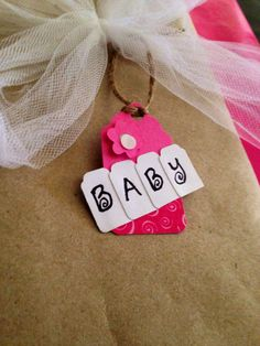 DIY handmade gift tag idea for baby gift.