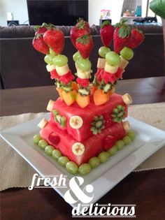How To Make a Layered Watermelon Fruit Cake Takes less time than