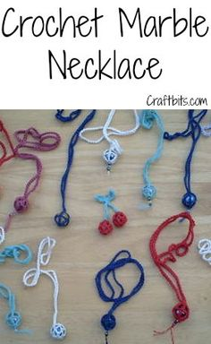 Crochet Marble Necklace