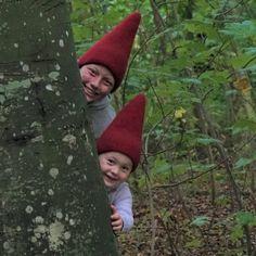 Puk – Felted Gnome Hat from Easy Knitting, Knitting Patterns, Crochet Patterns, Hat Patterns, Crochet Beanie, Knit Or Crochet, Crochet Hooks, Mitten Gloves, Mittens
