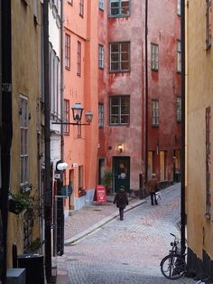 Sweden - more colours of Gamla Stan, Stockholm by Agnieszka Piatkowska, via Flickr