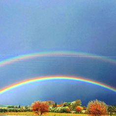 Double rainbow#rainbow #arcobaleno #doppioarcobaleno #doublerainbow #sky #cielo #colori #rainbow #fipili #toscana #tuscany #life #vita #magia #magic #life #vita #tourguide #guidaturistica #sanminiato #igerstoscana