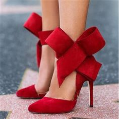 0e0c38900 BAYUXSHUO Women Big Bow Tie Pumps Butterfly Pointed Stiletto Shoes Woman  High Heels Plus Size Wedding Shoes Bowknot advisable -in Women's Pumps from  Shoes ...
