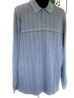 "Men's Shirt Plus XXL 2X Gray Blue Stripe 2-Button Long Sleeve Cotton ""Arrow"" New #Arrow #Menswear #Apparel #Shop #eBay"