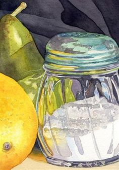 Painting Clear Glass in Watercolor - Original Fine Art for Sale - © Lorraine Watry