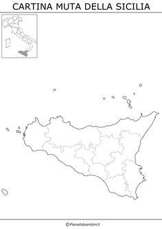 Cartina Muta Sicilia