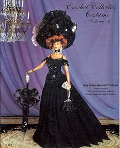 1898 Parisian Merry Widow Costume Crochet by grammysyarngarden