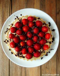 Torta de Caramelo e Morangos