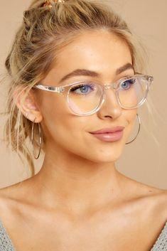 Walk On Blue Light Glasses - Fashion eye glasses - Flat Top Sunglasses, Round Lens Sunglasses, Cute Sunglasses, Sunglasses Women, Sunnies, Glasses Frames Trendy, Fake Glasses, Clear Glasses Frames Women, Ladies Glasses