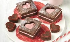 Brownies de San Valentín