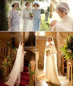 weddings @ Downton Abbey first  Lady Mary's and then Lady Edith