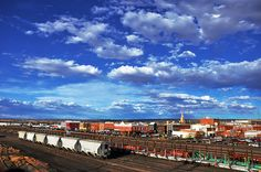 A stunning view of downtown Laramie from the historic footbridge