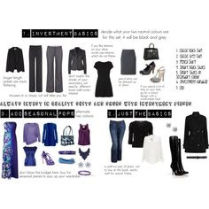 Capsule Work Wardrobe by rouvej on Polyvore Courtesy of my bestie