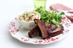 Smoked and Spicy Travers de Porc with Coleslaw