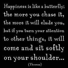 Don't chase happiness