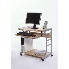 Small Computer Desk Laptop Table Office Workstation Bedroom Kids Student Rolling for sale online Space Saving Computer Desk, Mobile Computer Desk, Small Computer, Office Computer Desk, Home Office Desks, Home Office Furniture, Garden Furniture, Computer Station, Computer Mouse