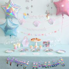 Bubble Birthday Parties, Bubble Party, 1st Birthday Girls, Mermaid Party Decorations, Birthday Party Decorations, Ideas Decoracion Cumpleaños, Teepee Party, Star Party, Mermaid Birthday