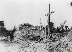 Jun 30 1917 Ruined calvary and church at Ablainzeville http://www.iwm.org.uk/collections/item/object/205322838 …