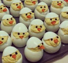 Deviled eggs as seen on Facebook.