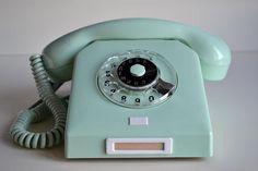 Vintage Rotary Phone Western Electric Aqua Blue
