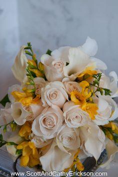 #Yellow and #white #Wedding #flowers