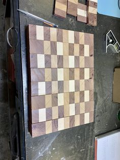 The first stages of creating end-grain cutting boards with purple heart, ambrosia maple and red grandis woods. End Grain Cutting Board, Cutting Boards, High Hopes, Woods, Purple, Heart, Building, Red, Blog