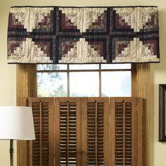 Alpine valance woodlands fargo straight tailored valance for Log cabin window treatments