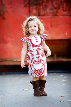 Such a precious little girl with a killer outfit on!