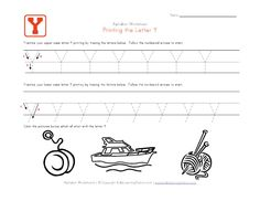 Tracing letter worksheets in landscape layout. We have one worksheet for each letter of the alphabet and they contain pictures to go with each letter. Each worksheet has uppercase and lowercase letters to trace. Letter Tracing Worksheets, Handwriting Worksheets, Tracing Letters, Uppercase And Lowercase Letters, Alphabet Activities, Activities For Kids, The Letter Y, Printing Practice, Learning Stations