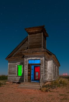 Finally, another addition to my long dormant 'RGB' series! This is an abandoned church in the ghost town of Taiban, New Mexico. When you do this style of photography, all alone by yourself out in the middle of nowhere in the middle of the night, there are locations you enjoy shooting and locations where you just wanna get your shots and move on. This place is one of the spots where it was a real pleasure to shoot; perfect moon angle, zero ambient light, a nicely decayed subject, and no lo...