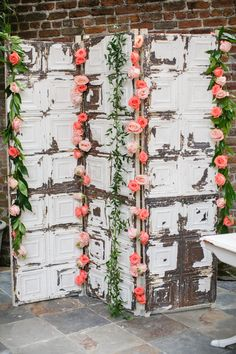 Mrs. Vintage Rentals - antique ceiling tin screen for rent