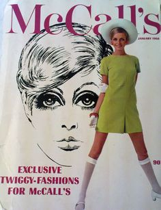 McCall's magazine, January 1968 ~ Twiggy