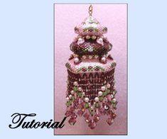 Beaded Christmas Ornament Patterns | Elinor Christmas Beaded Ornament by beadedpatterns on Etsy