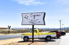 La Copine in La Flamingo, CA near Joshua Tree National Park Best Places To Camp, Oh The Places You'll Go, Places To Travel, Joshua Tree National Park, National Parks, Joshua Tree Camping, Vegas, San Francisco, Road Trip Essentials