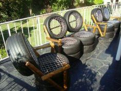 Unique way to use old tires. Awesome.