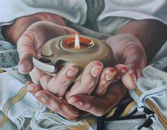 Lamp Light Painting - For Jerusalem by Ilse Kleyn Lds Art, Bible Art, Bride Of Christ, Prophetic Art, Jesus Art, Biblical Art, Lion Of Judah, Daughters Of The King, Jesus Pictures